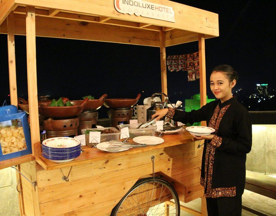 Salah satu stall yang tersedia dari beberapa stall yang ada di Ngangkring Nongkrong Indoluxe Hotel